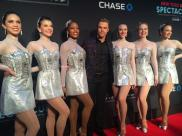 Derek and The Rockettes in the premiere of Spring Spectacular - March 26, 2015 Courtesy: Rockettes twitter