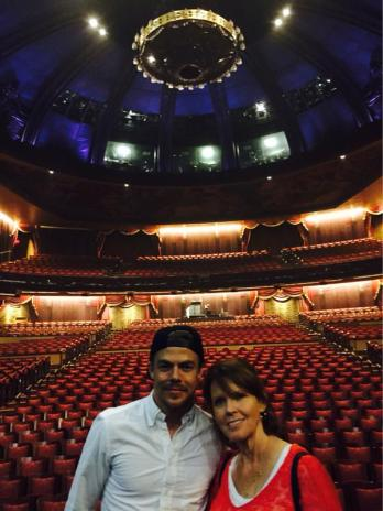 """""""At Venetian Vegas Theater with my boy Derek and Deb Hough getting ready for the final show of Move Live on Tour"""" - Las Vegas, Nevada - August 8, 2015 Courtesy @BruceHough"""