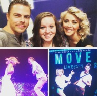 """""""Meeting Derek and Julianne Hough was easily the best thing that has ever happened to me!"""" - Boise, Idaho - August 1, 2015 Courtesy haileycourtney IG"""