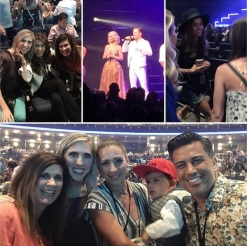 """""""Pretty much the BEST NIGHT OF MY LIFE!! No but for real!! Derek Hough, Julianne Hough, Nina Dobrev, Nappytabs, Paula Abdul..couldn't have been better [...] And WOW was this show amazing!! Like I'm more obsessed with them than I already was. Pure talent those two."""" - Los Angeles, California - August 7, 2015 Courtesy hayls24 IG"""