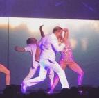"""Dancing their booties off!!"" - Las Vegas, Nevada - August 8, 2015 Courtesy lauramakfitness IG"