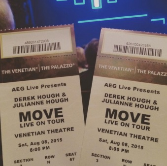 """""""Excited to see Derek and Julianne Hough"""" - Las Vegas, Nevada - August 8, 2015 Courtesy lorevi23 IG"""