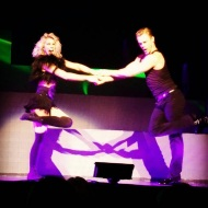 Derek and Julianne performing in San Diego, California - August 6, 2015 Courtesy xenatra64 IG