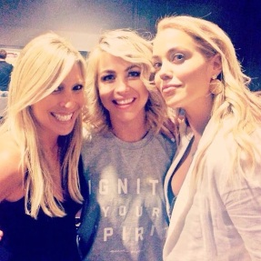 """""""Loved going backstage for a hug for the amazing Julianne Hough -- love this girl!!!!!! And definite bonus to be with you, @rachelzalis ❤️"""" - Los Angeles, California - August 7, 2015 Courtesy: elizberkley IG"""