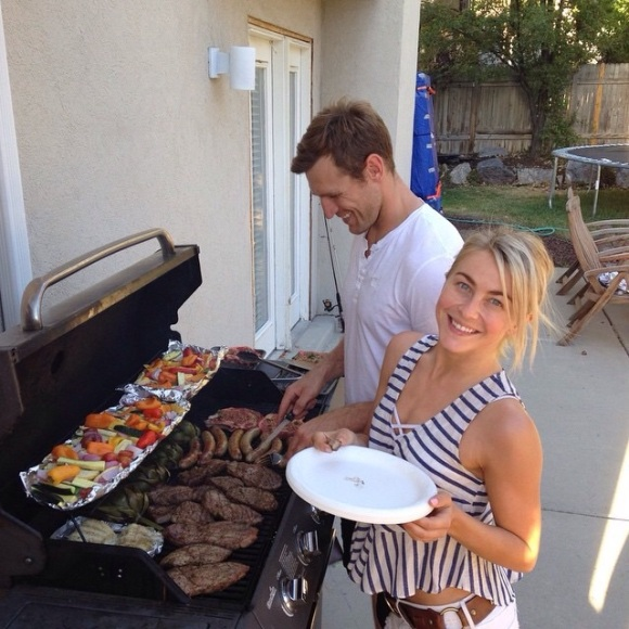 """""""These two amazing people grilled up some major goodness!! Steaks, veggies, sausages, artichokes, etc.! It was so good! Miss you already!!"""" - Salt Lake City, Utah - July 30, 2015 Courtesy: shareewise IG"""