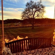 """Thanksgiving Nashville sunset . Time to relax on the swing after dinner #countrylife"" - November 29, 2013 Courtesy derekhough IG"