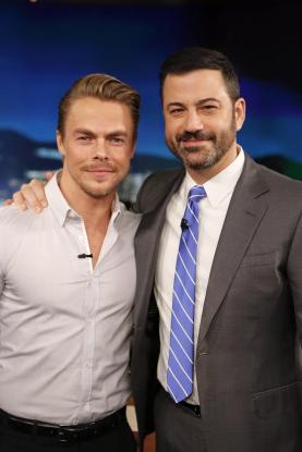"""Tonight on Jimmy Kimmel"" - February 15, 2016 Courtesy derekhough Facebook"
