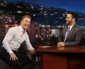 """I had a terrible time on @jimmykimmel . Clearly! Watch tonight"" - February 15, 2015 Courtesy derekhough IG"