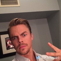 """Backstage at #Kimmel with Derek Hough"" - February 15, 2016 Courtesy JimmyKimmelLive twitter"
