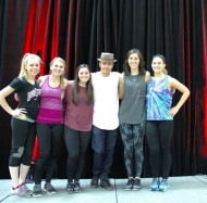 """Dreams do come true! Derek Hough came to OSU and taught us all how to ""get ugly"" 😁😄 So much fun!!"" - February 12, 2016 Courtesy kelly_toth8 IG"
