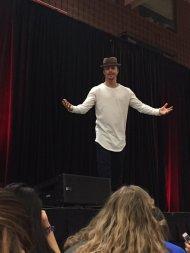 Derek leading a dance lesson at Ohio University - February 12, 2016 Courtesy LightningBOLTZ4 twitter