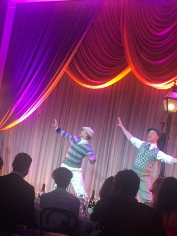 """""""Derek Hough performing a number from the upcoming 'Singin' in the Rain' musical. #WeinsteinParty"""" - February 27, 2016 Courtesy RaminSetoodeh twitter"""