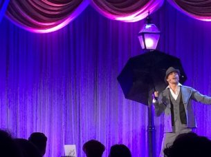 """""""Derek Hough performing the title number from SINGIN' IN THE RAIN"""" - February 27, 2016 Courtesy ScottFeinberg twitter"""