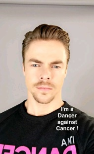 """I am a dancer against cancer"" - March 30, 2016 Courtesy derekhough snapchat"