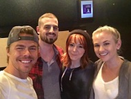 """Sooooo I just co-composed my first song ever... And it was with @derekhough and @lindseysterling I've been working with Derek for a little while now, thanks to the amazing homie Jared Grimes. Derek brought us all to the studio today, not knowing what we were going to do, and magic happened... Plus our boss mixer Joseph McQueen! Can't wait to share with you what it's for! #tapdance"" - May 9, 2016 Courtesy kelseymccowan IG"