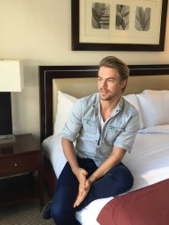 """Join us over on the T+L Facebook page for a LIVE chat NOW w/ actor & DWTS pro, Derek Hough."" - June 6, 2016 Courtesy TravelLeisure twitter"