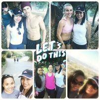 """Another #moveinteractive with @juleshough & @derekhough. It was so much fun & we met new people. Can't wait for the next one. 👍🏽💪🏽😀 #hiking #letsdothis #livinghealthy4life #makingfriends"" - July 14, 2016 Courtesy mary_joy54 IG"