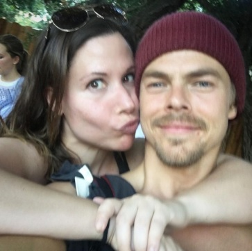 """Cute workout partners are the best motivation! Cheers to my awesome new buddy @derekhough who also got nominated for an #emmy today! #well deserved #workoutbuddy #derekhough #dwts #moveinteractive #fitness #workout #success 💪🏼💪🏼💪🏼"" - July 14, 2016 Courtesy tamirumble IG"