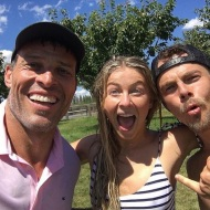 """When I ran into @derekhough at a screening of #IAmNotYourGuru in NYC last week, and he told me about @juleshough's birthday party this week in Idaho. You didn't think I'd miss it did you, Jules?? Surprise!! 🎈 Happy Birthday, what a blast! Check out the video of my slip-n-slip adventure in the previous post. And don't miss both Derek and Jules in I Am Not Your Guru only on #Netflix!"" - July 20, 2016 Courtesy tonyrobbins IG"
