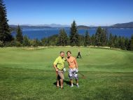 """Is this really golf? With @derekhough and photobomb courtesy of @juliannehough"" - August 18, 2016 Courtesy Bruce Hough twitter"