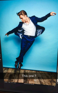 Derek's photoshoot for Hairspray Live! presentation at TCA - August 2, 2016 Courtesy derekhough snapchat