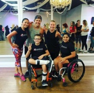 """Thank you @juleshough @derekhough for welcoming us again at #MoveInteractive . Good job #InfiniteFlowKids Alex and Lourdes for keeping up with @iamjjdancer super booty-licious cardio dance workout. Let's keep sharing our love for #dance and message for #inclusion. #motionequalsemotion #fitness #wheelchairdance #nonprofit #501c3"" - August 23, 2016 Courtesy infiniteflowdance IG"