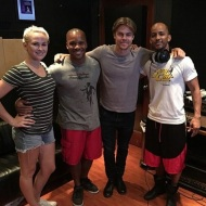 """Today's adventures in Los Angeles. Recording a new dance project with Derek Hough and my boy Jason Nious. Y'all ain't ready for this dude. He learns fast and is about to bring body percussion to a new audience. #derekhough #studio #dancingwiththestars big ups to Caley and Kelsey for bringing us in on this magic. #SoulClapFitness #stepping"" - August 15, 2016 Courtesy khalidfreeman IG"