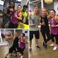 """Had an amazing time at #moveinteractive today! Worked out with @iamjjdancer and @derekhough and @juleshough Thanks to @justdancelosangeles for having us @propelwater"" - August 23, 2016 Courtesy rachellej8 IG"