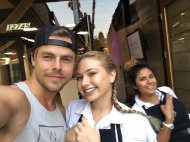 """So I met Derek and Julianne Hough at work today💕"" - August 23, 2016 Courtesy sarah_spale twitter"