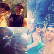 """Morning ride with my friend Tyson then hike with my favs😘 it was hot out there but we made it !! #moveinteractive #Saturday I had fun"" - August 13, 2016 Courtesy malibuyuh IG"