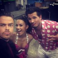 """Oh hey @derekhough !!! @glebsavchenkoofficial @dancingabc #dwts"" - September 26, 2016 Courtesy kramergirl IG"