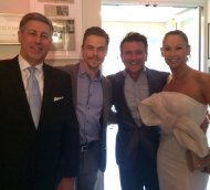 """#DWTS' @derekhough & his father Bruce with @robertherjavec & @kym_johnson at the @tvguidemagazine #AdvocacyAwards."" - September 16, 2016 Courtesy tvinsider Twitter"