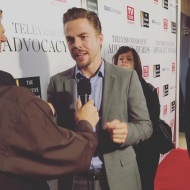 """The handsome and talented #derekhough walks the #advocacyawards red carpet and chats to us about his hero moment on #dwts!!"" - September 16, 2016 Courtesy popheartstv"