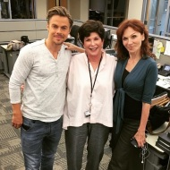 """I'll admit it--I'm a devoted #dwts fan happy to meet these #stars! @derekhough & #mariluhenner stopped by @abc7. Wonder what TV theme song they'll dance to for their #foxtrot?"" - September 15, 2016 Courtesy abc7adrienne IG"