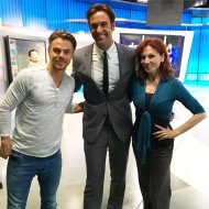 """Fun to meet @derekhough & @TheRealMarilu! Rooting for them this season on @DancingABC! #teamhennergy"" - September 15, 2016 Courtesy abc7elex twitter"
