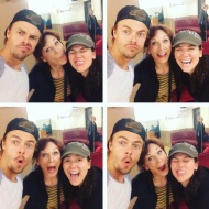 """When you ask @derekhough to take a selfie... He's a sweetheart and takes like 9 😬👧🏻 Thanks, Derek & Marilu! Who's on #teamhennergy tonight? #dwts"" - September 19, 2016 Courtesy aurorasblog IG"