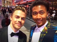 """Reunited with Derek Hough from Dancing with the Stars at the 2016 EMMYS."" - September 18, 2016 Courtesy brandeecimo IG"