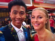 """At the EMMYS met Julianne Hough from Dancing with the Stars for the first time."" - September 18, 2016 Courtesy brandeecimo IG"