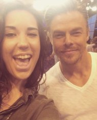 """I love you @derekhough!!!"" - September 7, 2016 Courtesy brittanyvervaet twitter"