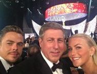 """@juleshough @derekhough and me, I was each of their plus half for tonight... #emmys2016"" - September 18, 2016 Courtesy brucehough IG"