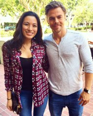 """Spotted @derekhough during my coffee break ☕ Talk about an exciting day at work 🙊️ #DWTS #InsideABC #abc7eyewitness"" - September 15, 2016 Courtesy crystalmuguerza twitter"