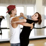 """@therealmarilu & @derekhough are perfecting their frame for Monday's #FaceOffNight! Raise your hand if you're excited to see their tango! 🙋 #DWTS"" - September 24, 2016 Courtesy dancingabc IG"