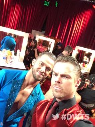 """It's #FaceOffNight! @artemchigvintse & @derekhough have their game faces on 😜."" - September 26, 2016 Courtesy dancingabc twitter"