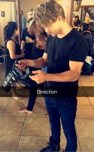 """Direction"" - September 2, 2016 Courtesy derekhough snapchat"