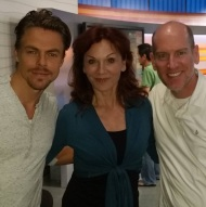 """Hanging out with #mariluhenner and #derekhough from the new season of Dancing with the Stars. #DWTS"" - September 15, 2015 Courtesy edd90015 IG"