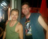 """With Derek Hough, just now after tonights results show on DWTS!"" - September 27, 2016 Courtesy gregg woods facebook"