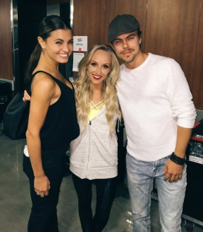 """Look who came to see our show tonight :):) @derekhough @Dance10Hayley #KelloggsTour"" - September 24, 2016 Courtesy nastialiukin twitter"