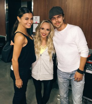 """""""Look who came to see our show tonight :):) @derekhough @Dance10Hayley #KelloggsTour"""" - September 24, 2016 Courtesy nastialiukin twitter"""