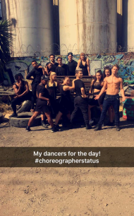 """My dancers for the day!"" - September 2, 2016 Courtesy rudy abreu snapchat"