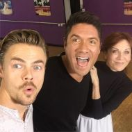 """Tonight, @LOUISAGUIRRE chats with @TheRealMarilu and @derekhough as they prepare for tonight's dance on #DWTS"" Courtesy theinsider twitter"